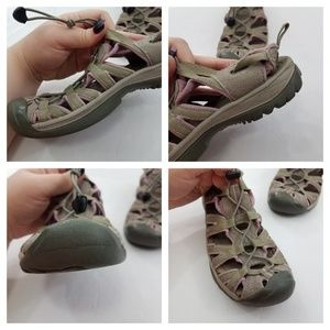 Keen Shoes - Keen Gray Pink Whisper Sandals Womens Athletic Spo